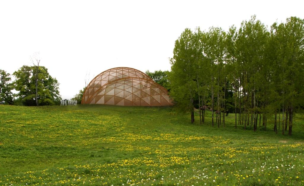 Geodesic Domes For Archaeological monument cover
