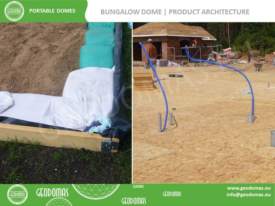 Mobile Hotel 26 room | Glamping Dome 300m2 Ø16