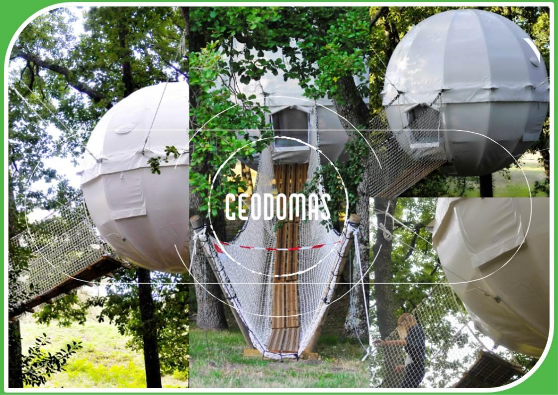 Domki na drzewie o których marzyliśmy w dzieciństwie! Namiot sferyczny