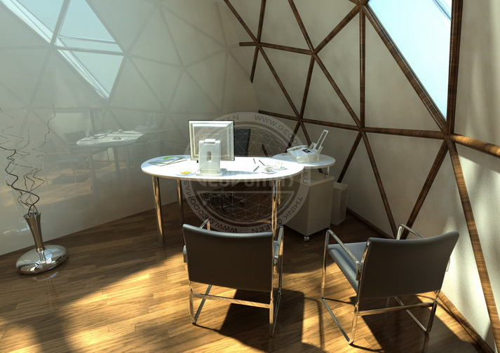 Geodesic Domes Portable Glamping Office Ø6m 28m2 | For Public Use