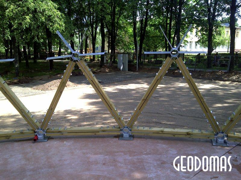 Public Park Stage Dome Ø15m | Estrada Geodesic Dome, Salcininkai, Lithuania