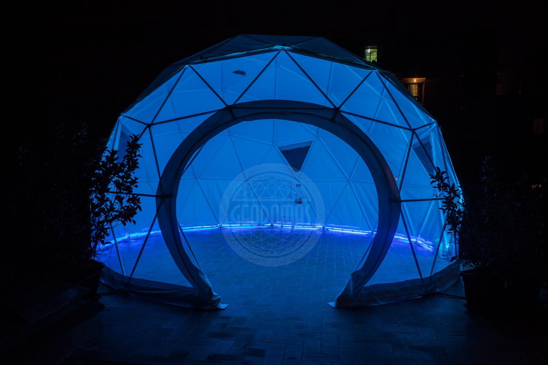 Namiot kulisty Ø6m 28m2 | Wielu funkcjonalny
