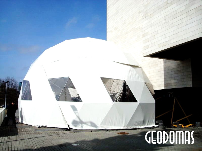Portable Dome Ø11m for Mode Infection festival | Vilnius, Lithuania