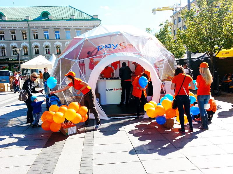 Portable dome Ø6m For PAYSERA – Global transfers Company   Lithuania
