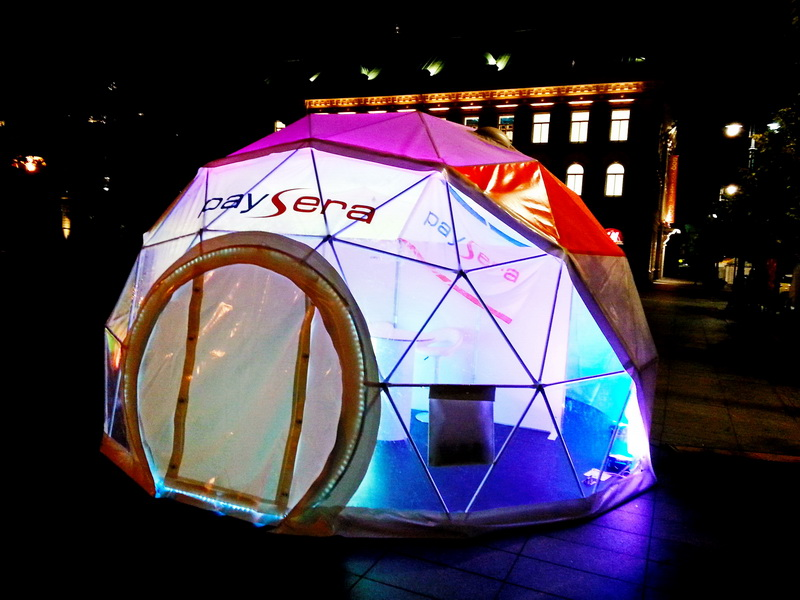 Portable dome Ø6m For PAYSERA – Global transfers Company | Lithuania