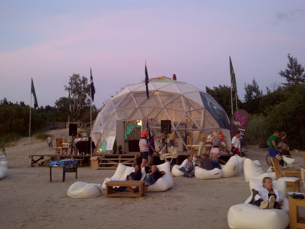 """TUBORG Restauracja na plaży """"SHIVA BAR"""" Kopuła Ø11m H5,5m V4"""