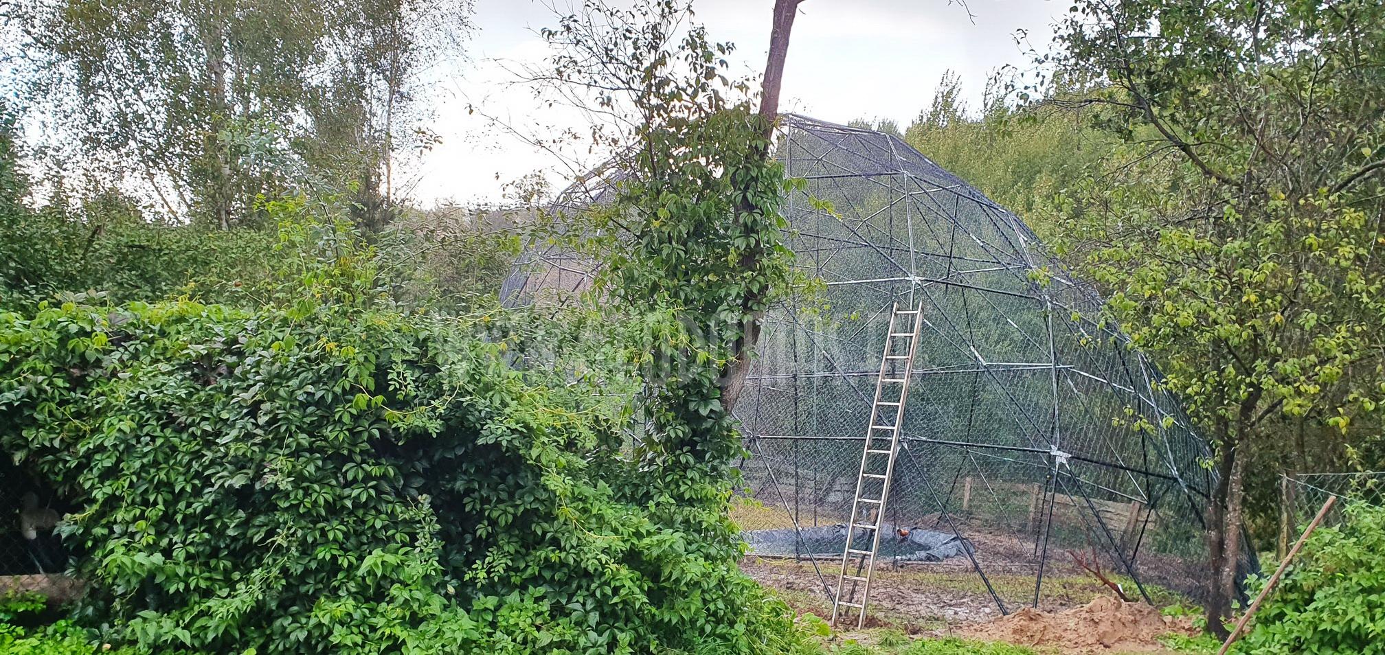 Ø6-Ø7-Ø30m Kopuły Wolierowe | Ośrodek Rehabilitacji Ptaków Dzikich w Bukwałdzie