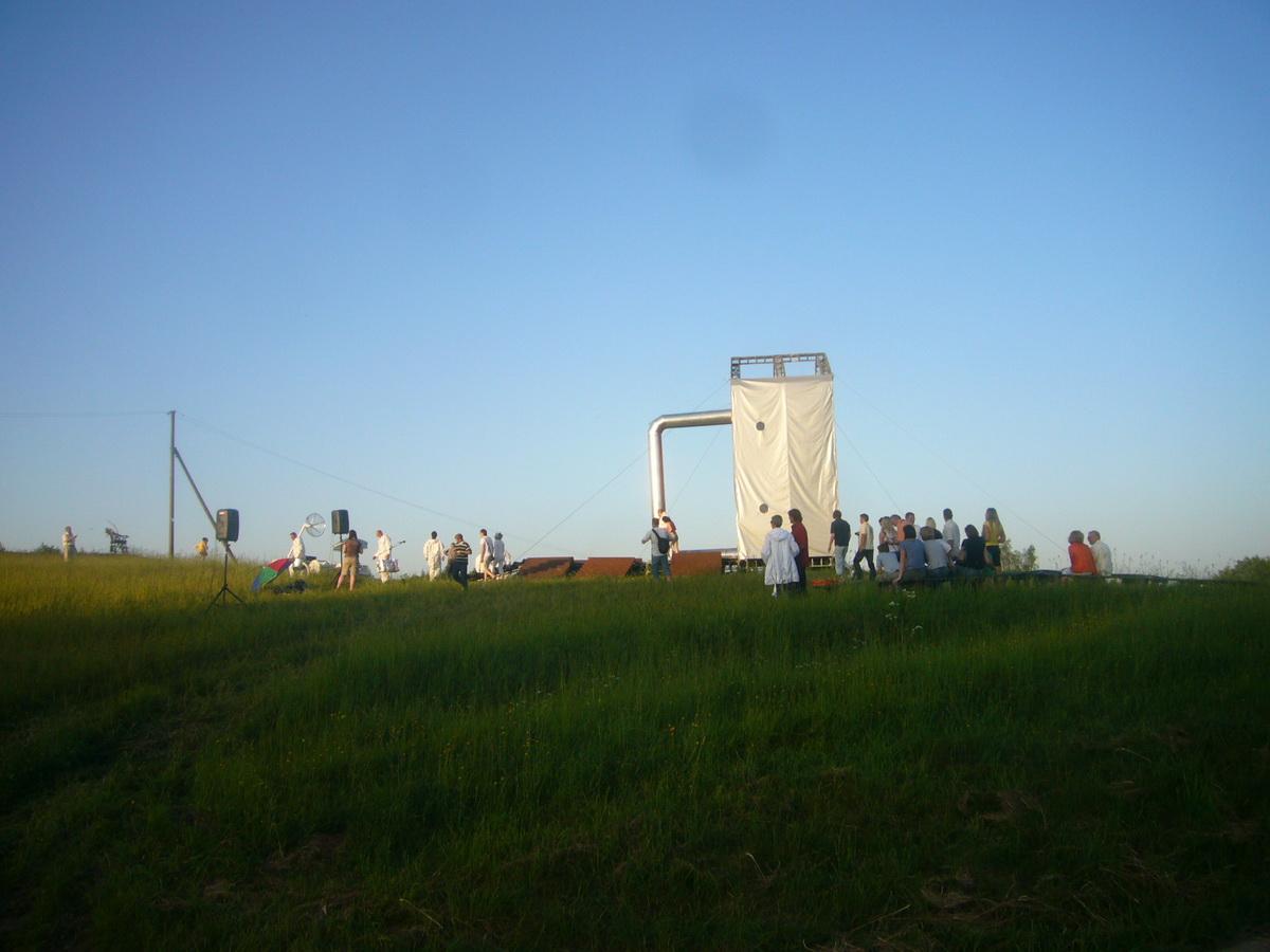 The Brass park | Žalvario parkas, Ø20m-Ø11m-Ø6m Geodesic Domes, Moletai, Lithuania
