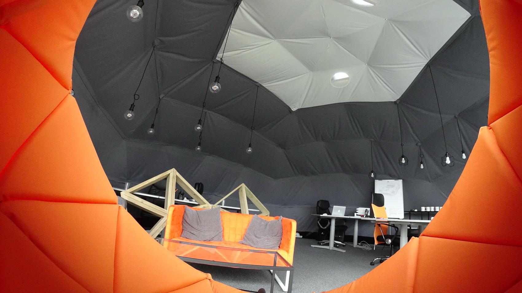 Mobilne Biuro Ekspozycyjne Studio 50m2 | Kopuła Geodezyjna, Wilno, Litwa