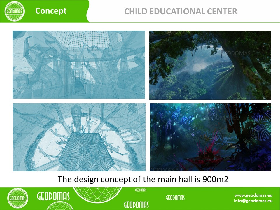 Geodesic Dome for Child Education Center 1200m2