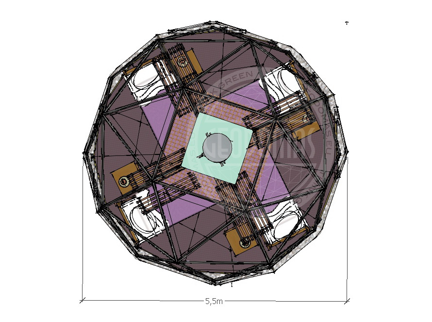 Namiot wieloosobowy 28m2 z wysokim komfortem | Campingowy