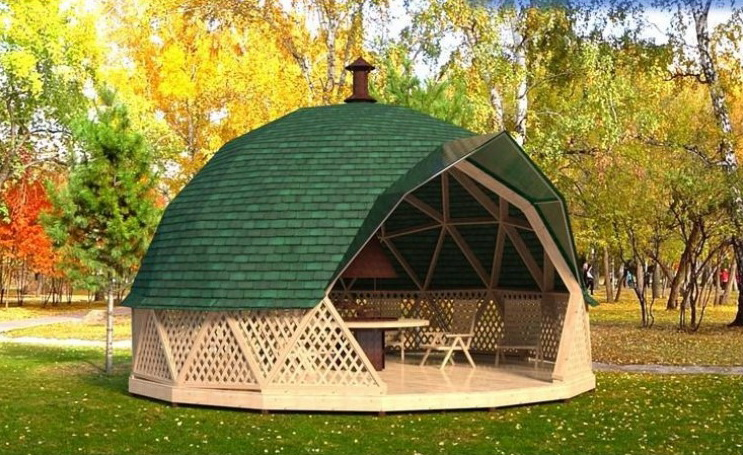 Outdoor BARBEQUE (BBQ) Grill Gazebo | DOME Ø6m F3 28m2