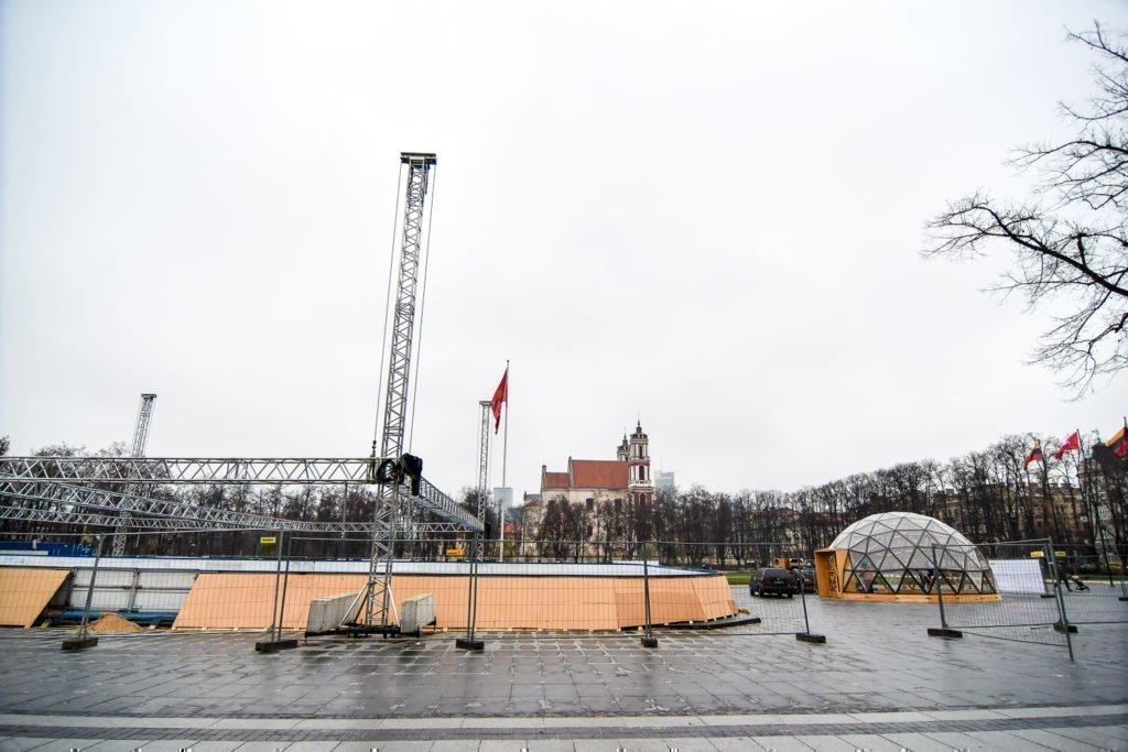 50m² Panoramic Bar Dome Ø8m @ Ice Rink in Lukiškės Square, Vilnius
