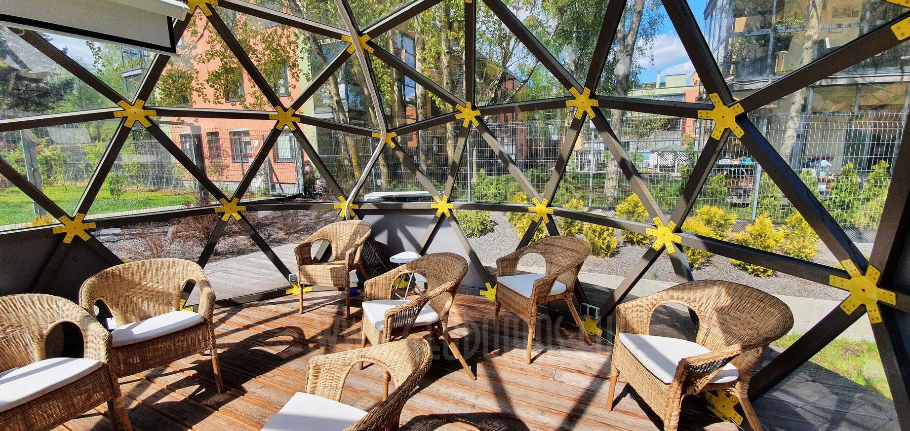 20m2 Public Lounge Dome | Fontanu Namai, Vilnius