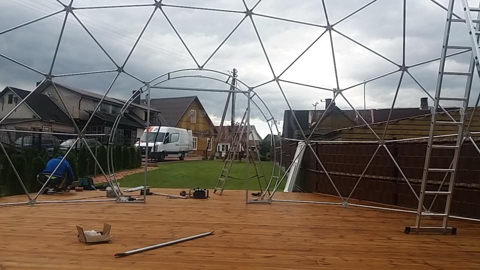 63m2 Picca & Event Dome Ø9m   Picų lobynas, Rūdiškes