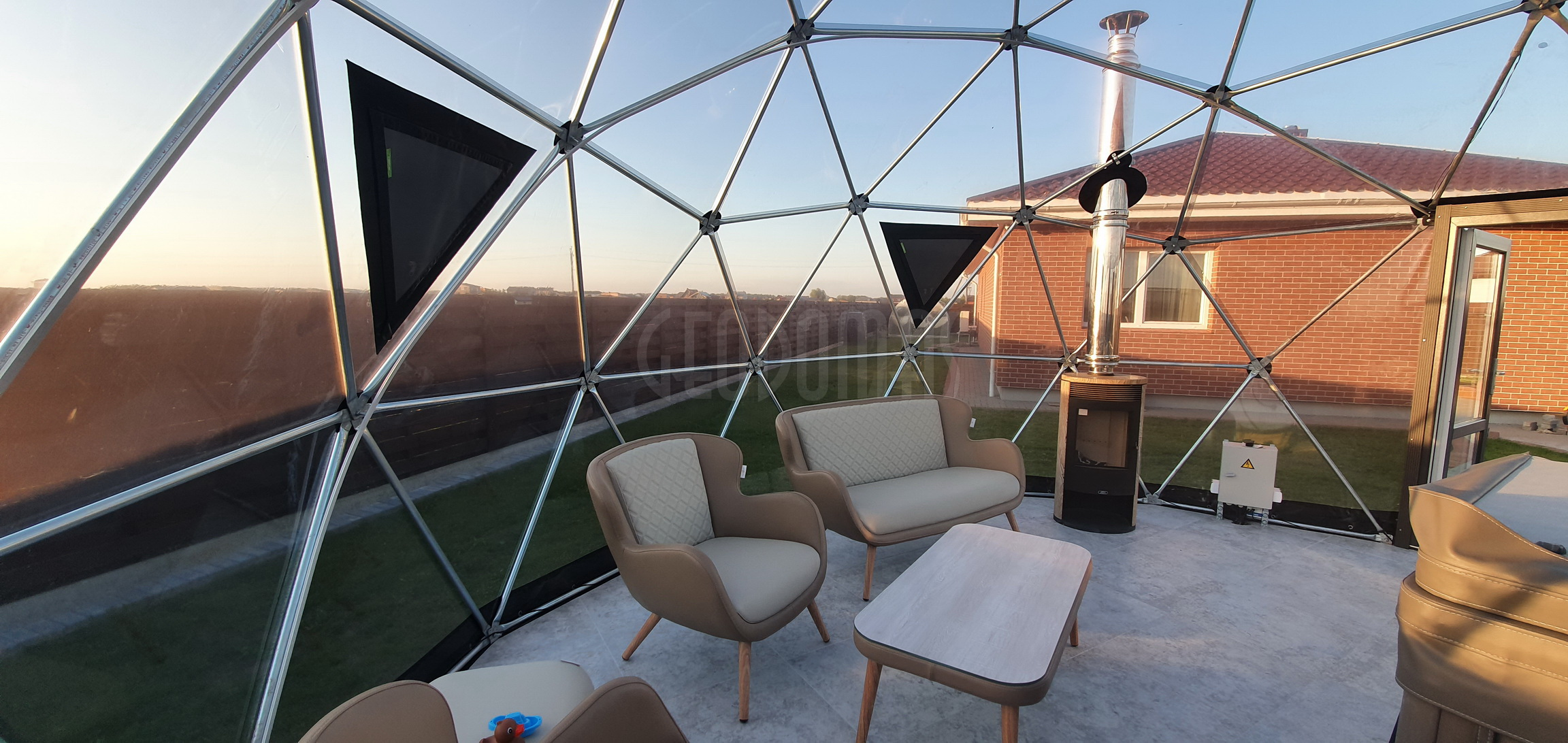28m2 ⌀6m SPA Dome Jacuzzi – Full Transparent | Klaipeda