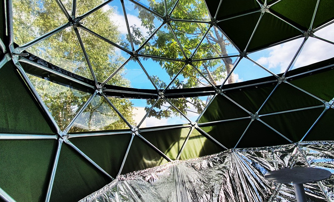 7m2 Domek na drzewie CRYSTAL dla dzikiej przyrody | ⌀3m Namiot glamping