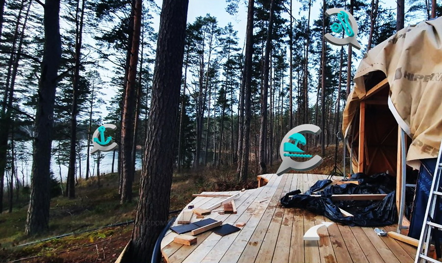 20m2 Small Home  | Wood Geodesic Ø5m | Dome building Kit's