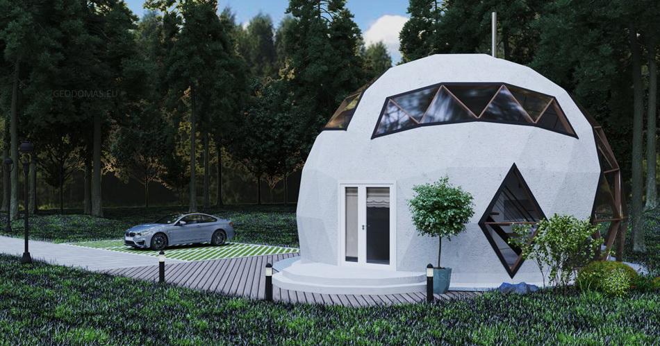 75m2 Family Geodesic House Ø8m Height 5,8m