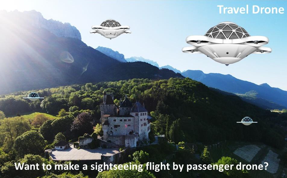 28m2 Passenger Drone 8 Seat + Operator   Dome Flight Technologies