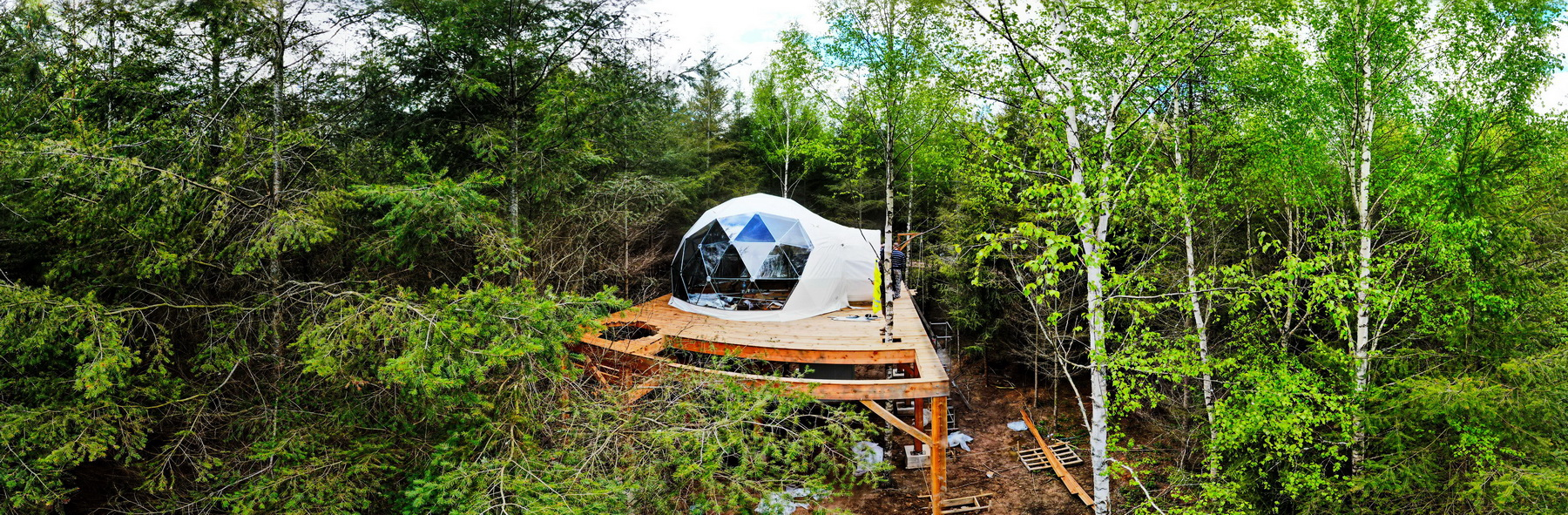 28m2 Glamping Dome Ø6m Domaine Ouréa / Eco-lodge & Spa FRANCE
