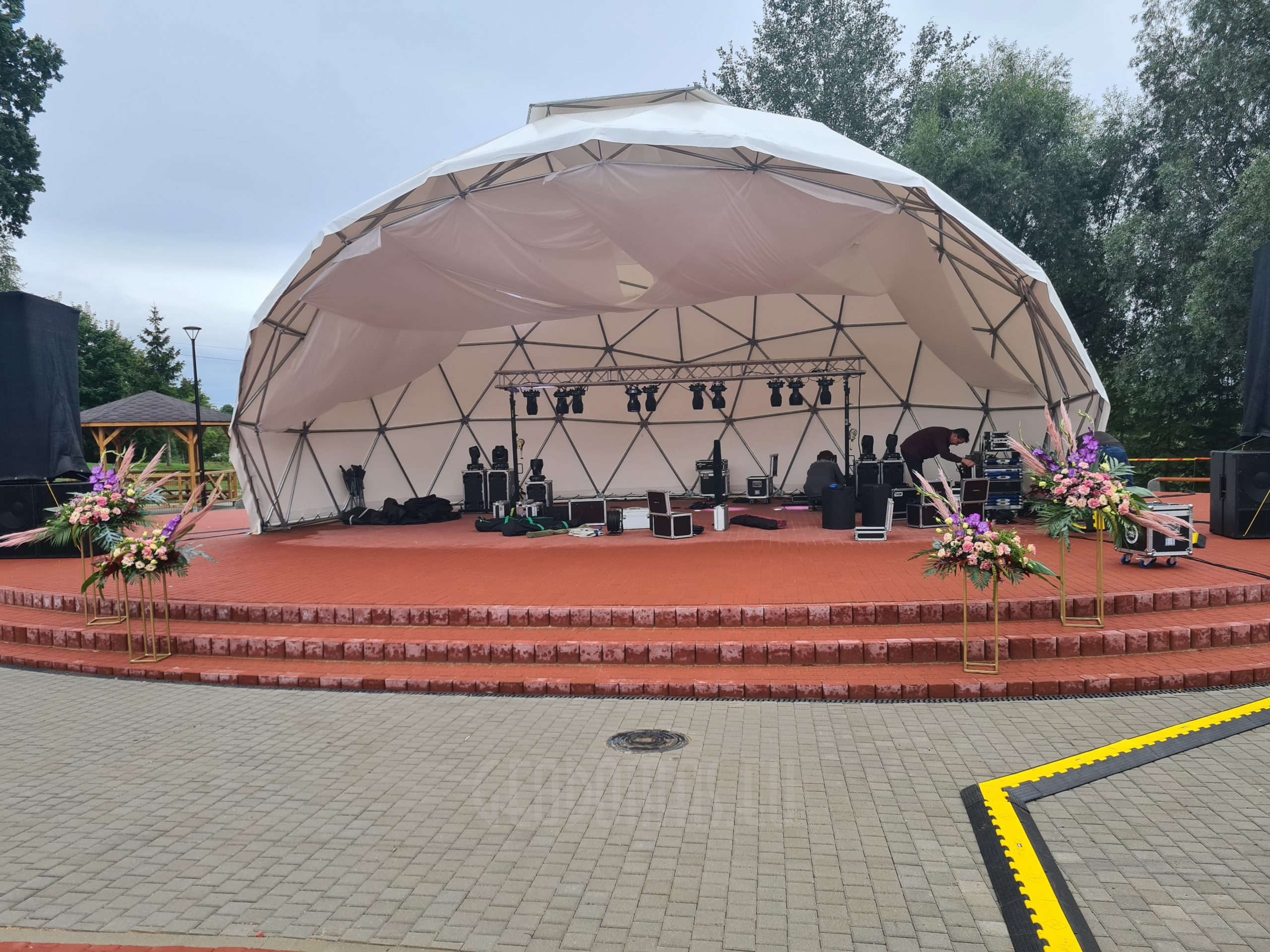 ⌀11m City stage for events in Pilviškės, Lithuania